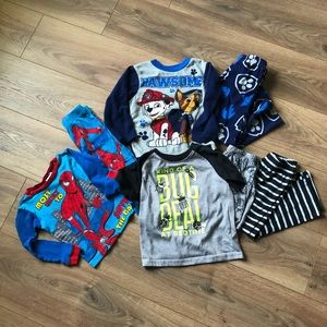LOT SZ 4 Pajama Sets ❗️Paw Patrol & Spider-Man❗️
